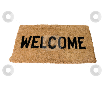 Welcome Doormat stock photo, Welcome Doormat by Paul Hill