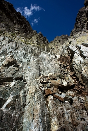 Steep path stock photo, Steep mountain walk path in sunny day by Juraj Kovacik