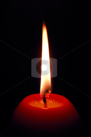 Candle stock photo, Image shows a red egg-shaped decorative candle by Andreas Karelias