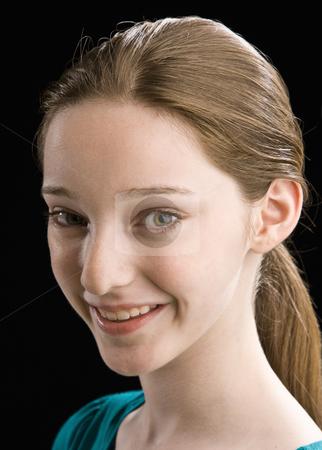 Teenage girl smiling stock photo, Teenage girl smiling by Jonathan Ross