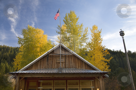 Old Fire House Liberty Washington stock photo, Old Fire House Liberty Washington Fall Colors