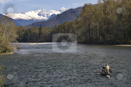 Going Fishing North Cascades National Park stock photo, Going Fishing Skagit River North Cascades National Park Washington Northwest by William Perry