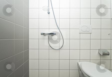 New bathroom stock photo, A new bathroom in a new apartment by Fredrik Elfdahl