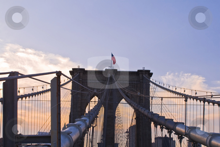 Brooklyn Bridge stock photo, Brooklyn Bridge in New york by Fredrik Elfdahl