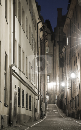 Old town stock photo, Streets in old town by Fredrik Elfdahl