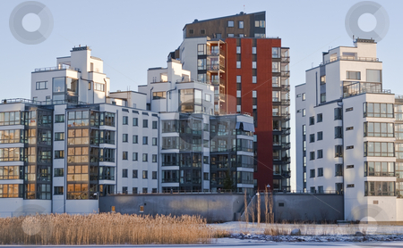 Apartments stock photo, Big houses with apartments by Fredrik Elfdahl