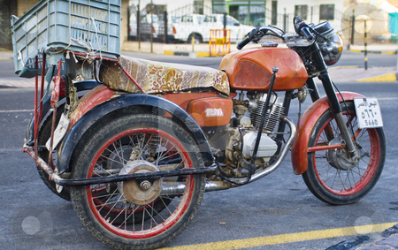 Motorbike stock photo, Three wheeled motorbike by Fredrik Elfdahl