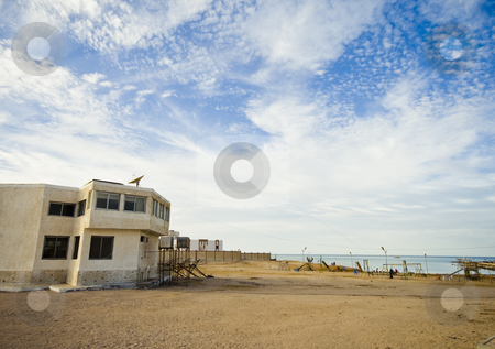 A house at the beach stock photo, A house at the beach by Fredrik Elfdahl