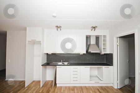 Kitchen stock photo, New kitchen in a new apartment by Fredrik Elfdahl