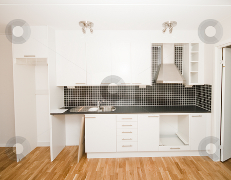 New kitchen stock photo, New kitchen by Fredrik Elfdahl