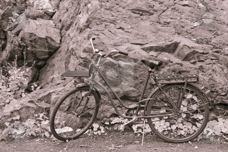 Bicycle stock photo, Old bicycle by Fredrik Elfdahl