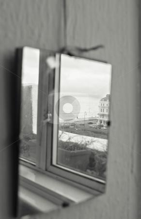 Mirror stock photo, Mirror reflect the sea by Fredrik Elfdahl
