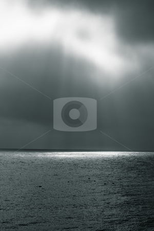 The sun and the sea stock photo, The sun and the sea by Fredrik Elfdahl
