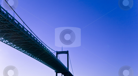 Bridge stock photo, Iron bridge and sky by Fredrik Elfdahl