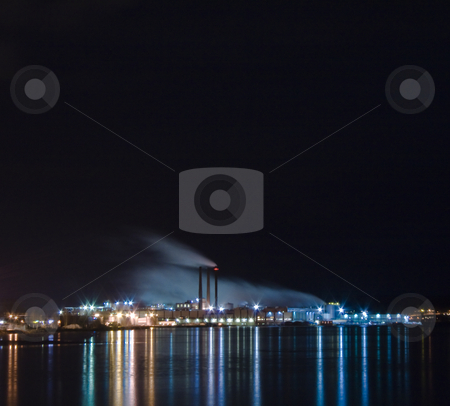 Industry stock photo, Big industry by the water by Fredrik Elfdahl