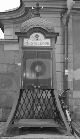 Old public telephone stock photo, An old public telephone by Fredrik Elfdahl