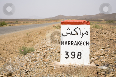 Road to Marrakech stock photo, On the road to Marrakech, Kingdom of Morocco, North Africa by mdphot