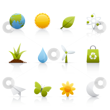 Icon Set - Ecology stock vector clipart, Set of icons on white background in Adobe Illustrator EPS 8 format for multiple applications. by Sebasti??n Al?