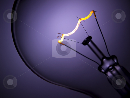 Bulb light over purple stock photo, Close up on a transparent light bulb over a purple background. by Ignacio Gonzalez Prado