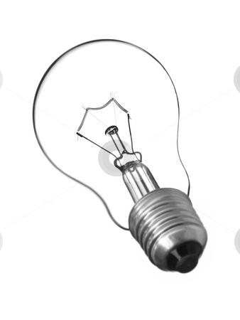 Isolated bulb light. stock photo, A transparent light bulb isolated on white. by Ignacio Gonzalez Prado