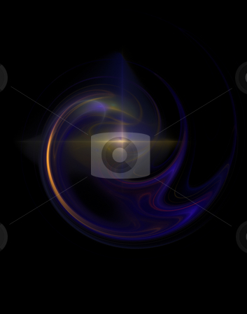 Highlight stock photo, Abstract blue red swirl with highlight - 3d illustration by J?