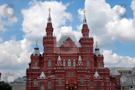 Building of Historical Museum on Red Square in Moscow stock photo, Building of Historical Museum on Red Square in Moscow, Russia by Julija Sapic