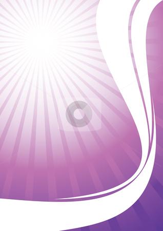 Sunburst background stock vector clipart, Pink sunburst with white lines, vector illustration by Milsi Art