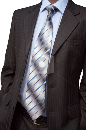 Necktie stock photo, Elegant necktie, shirt and man's suit it is beautiful by Sergey Goruppa