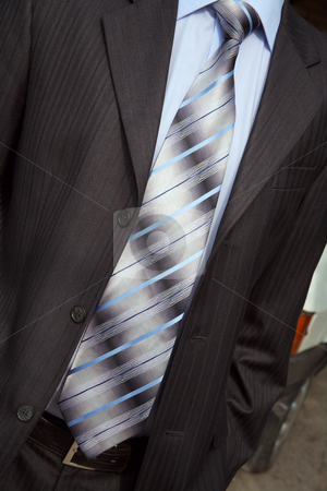 Necktie stock photo, Elegant necktie, shirt and man's suit it is beautiful! by Sergey Goruppa