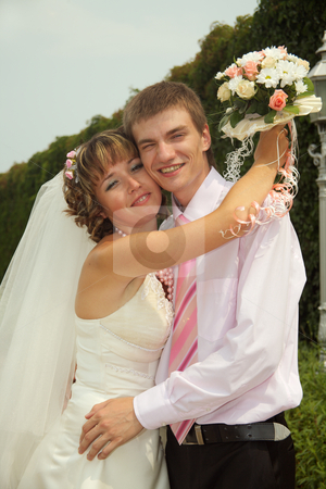Family stock photo, Day of wedding the most solemn and unforgettable in a life of each person. by Sergey Goruppa