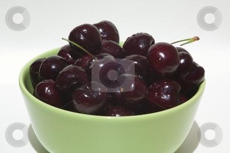 Bowl of cherries stock photo, The Wild cherry, Sweet cherry or Gean (botanic name Prunus avium) is a species of cherry, native to Europe, northwest Africa, and western Asia by Mariusz Jurgielewicz