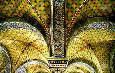 Vaults stock photo, Hungary, Pecs, St. Peter & Paul Cathedral (11th-12th century) Vaults by David Ryan
