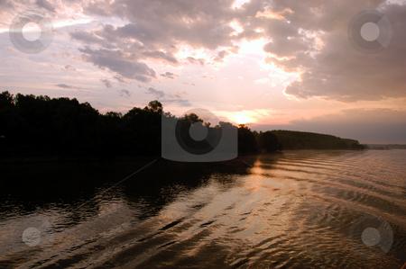 Sunrise on the Danube stock photo, Hungary, Danube River Sunrise by David Ryan