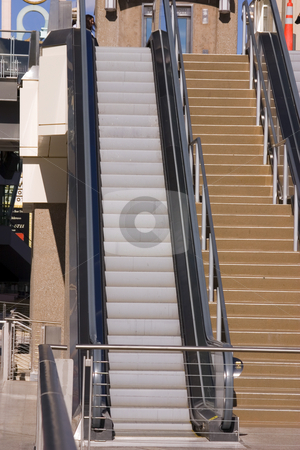 Escalator in the Las Vegas Strip stock photo, Escalator in Las Vegas Strip in the Street by Mehmet Dilsiz