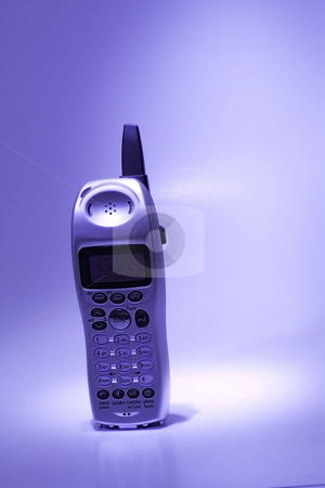Isolated Telephone  stock photo, Isolated Telephone in the spot light by Mehmet Dilsiz