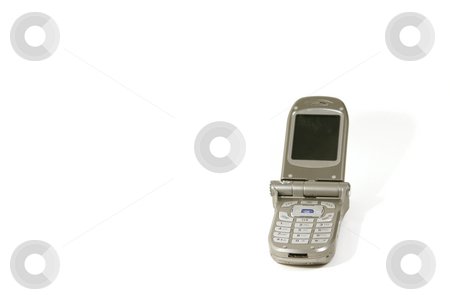 Isolated Cellular Phone stock photo, Isolated Celluar Phone Overwhite by Mehmet Dilsiz