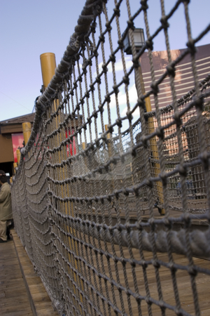 Sidewalk in the strip in Las Vegas - Pirate / dock themed sidewa stock photo, Sidewalk in the strip in Las Vegas - Pirate / dock themed sidewalk DOF, close up on the ropes by Mehmet Dilsiz
