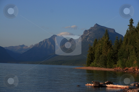 Mountain Scenery stock photo, Mountain Scenery from Glacier Park Montana. by John Sterrett