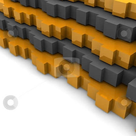 Orange and gray abstract stock photo, Orange and gray abstract 3d rendered background. by Jiri Moucka