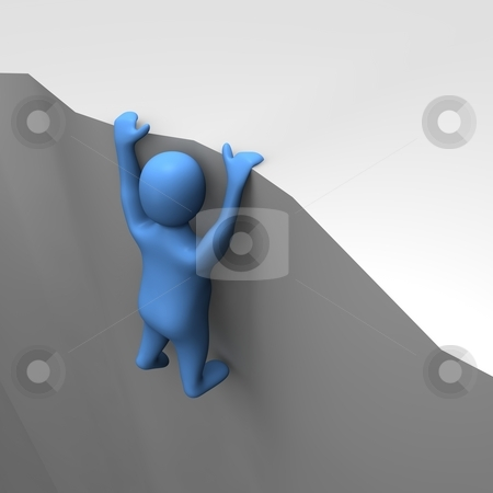 Hanged down. Man in danger. 3d rendered illustration. stock photo, Hanged down. Man in danger. 3d rendered illustration. by Jiri Moucka