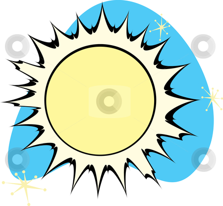 Retro Sun stock vector clipart, Retro Sun is part of a complete set of Solar System Planets for download. by Jeffrey Thompson