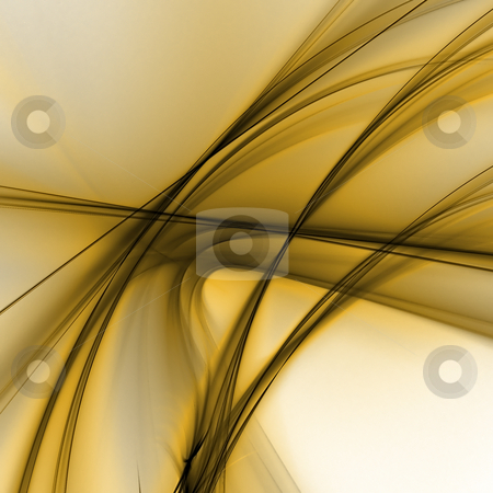 Abstract background. Black - yellow palette. stock photo, Abstract background. Black - yellow palette. Raster fractal graphics. by Andrey Khritin