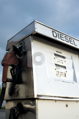 Diesel pump stock photo, Old style diesel pump by Yann Poirier