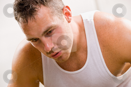 Man resting stock photo, Man resting by Jonathan Ross