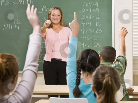 Students answering teacher?s question stock photo, Students answering teacher?s question by Jonathan Ross