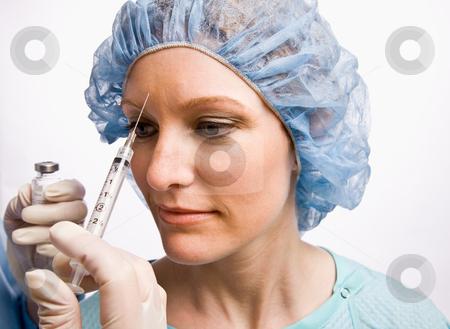 Woman receiving botox injection stock photo, Woman receiving botox injection by Jonathan Ross