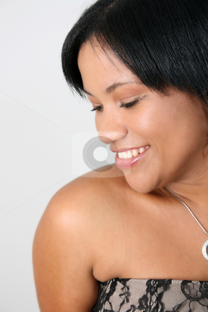 Beautiful Woman stock photo, Beautiful young adult female with strings of jewellery by Vanessa Van Rensburg
