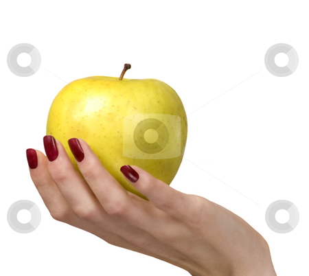 Yellow apple stock photo, Yellow apple by Desislava Draganova