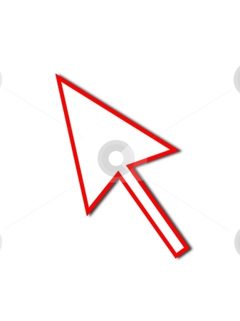 Cursor Arrow Mouse Red Line stock photo, Cursor Arrow for the use with mouse or other pointer. by Henrik Lehnerer