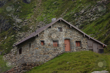 Mountain Hut stock photo, Mountain Hut at the Stubai Glacier by Andre Janssen